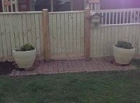 Paling Gate With 10mm Gap & Capping.