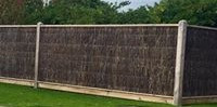 Brush Fence With Exposed Posts & Capping
