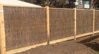 Brush Fence With Exposed Posts & Capping.