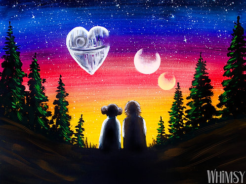 Star Wars  & Love - Double Canvas