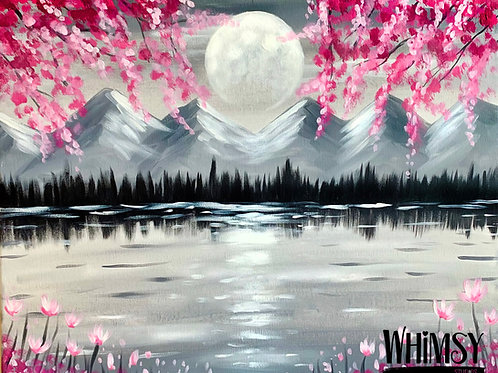 Date Night -Silver Blossoms -Double Canvas