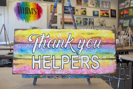 Thank you helpers sign in studio.jpg