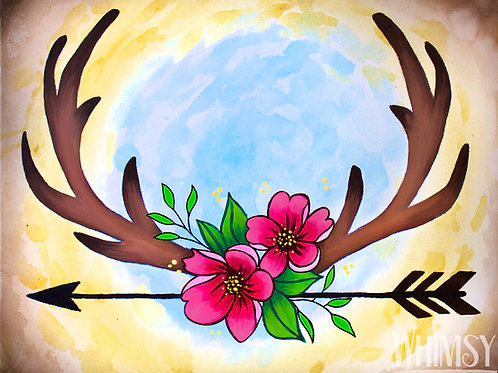 My Deerest - Double Canvas