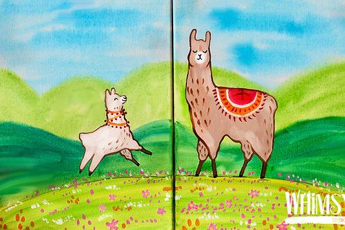 Lama Mama - Double Canvas