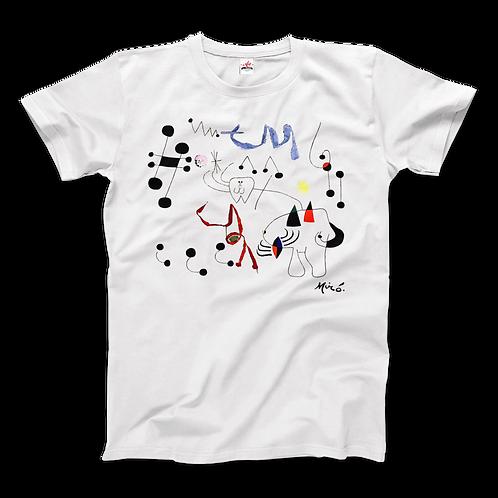 Joan Miro Woman Dreaming of Escape 1945 Artwork T-Shirt