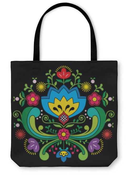 Tote Bag, Norwegian Folk Art Bunad Pattern