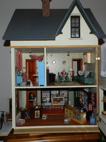 Inside Mrs. Hough's shop.