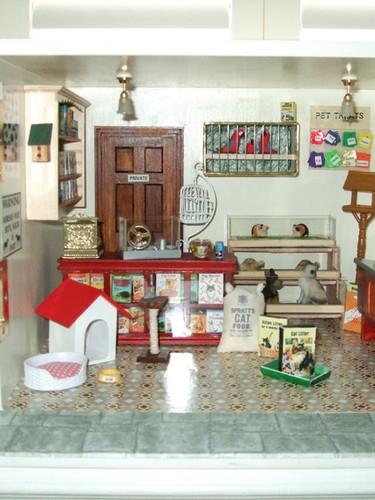 Inside Joan's Pet Shop.