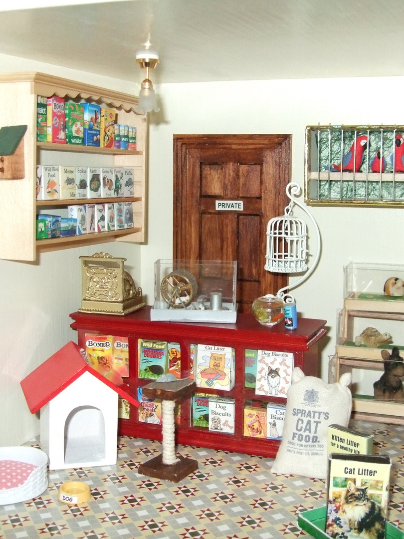 Joan's Pet Shop interior.