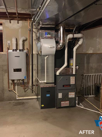 After: New tankless water heater.