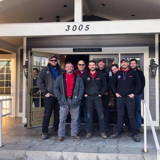 The Aim High HVAC crew.