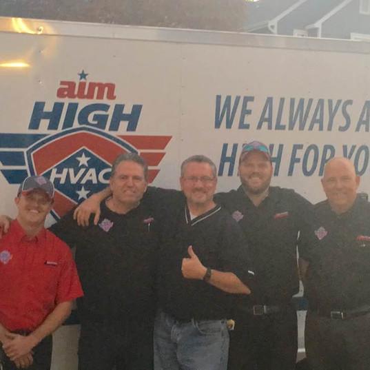 Aim High HVAC team.