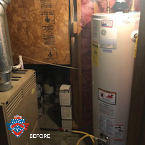 Before: Water heater.