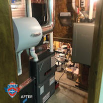 After: Tankless water heater.