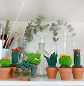 Cactus au crochet de la maison bonjour