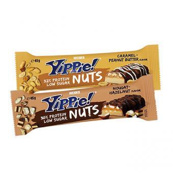 Weider Yippie Nuts Bar Display à 24 Stk