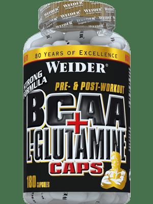 Weider BCAA + L-Glutamine Dose 180 Kapseln