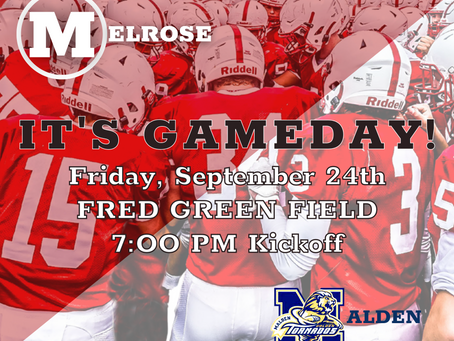 MELROSE v MALDEN at Fred Green Field and Live Stream!