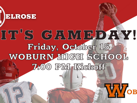 MELROSE v WOBURN at Woburn High School!  Live Stream and Direction to the Field.