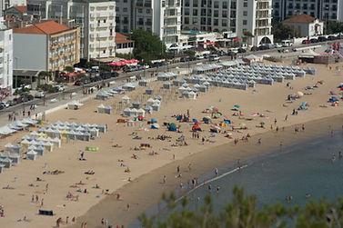 S Martinho do Porto, Praia beach