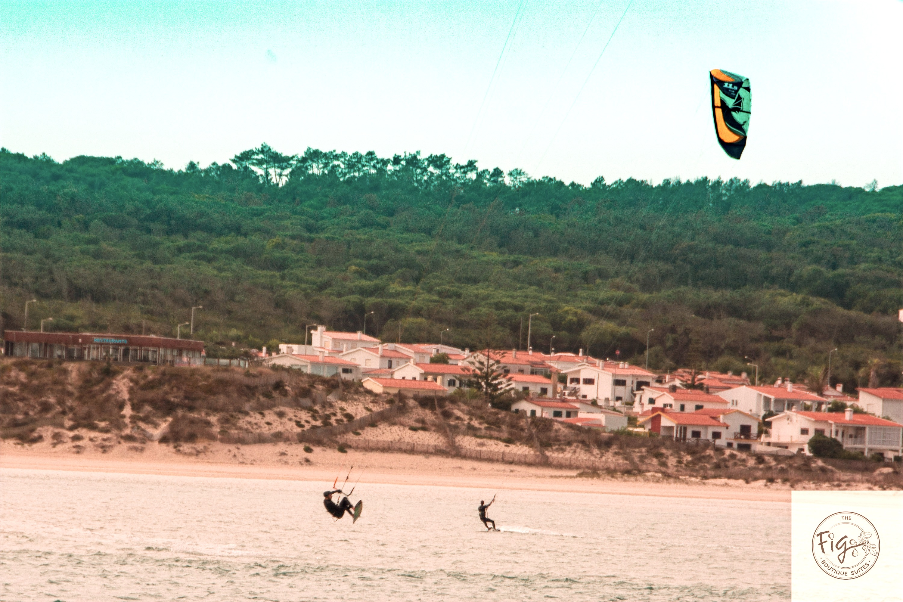 Kite surf at Lagoa de Obidos