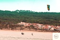 Kite surf at Lagoa de Obidos