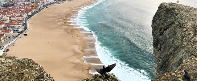 Praia da Nazaré vista do Sítio