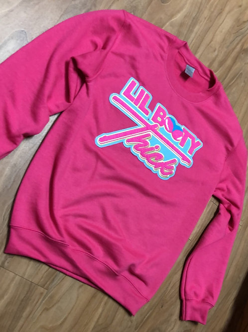 Hot Pink Lil Booty Thick Crewneck