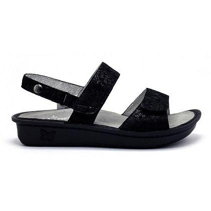 Verona Braid Black Embossed Leather
