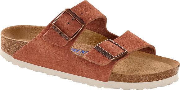 Arizona Soft Footbed Red Earth Suede Leather