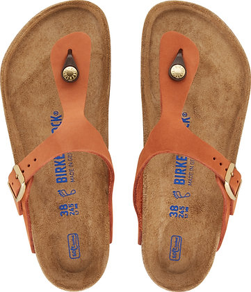 Gizeh Soft Footbed Pecan Nubuk  Leather