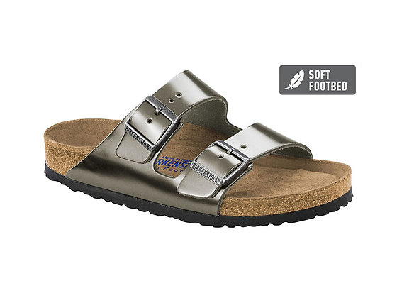 Arizona Soft Footbed Metallic Anthracite Leather