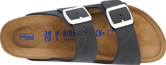 Arizona Soft Footbed Gunmetal Suede Leather