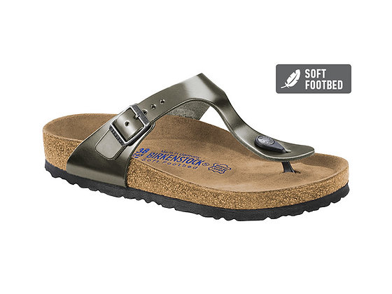 Gizeh Soft Footbed Anthracite Leather