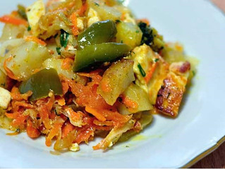 Мои любимые блюда - Сабджи с паниром (овощное рагу с адыгейским сыром)