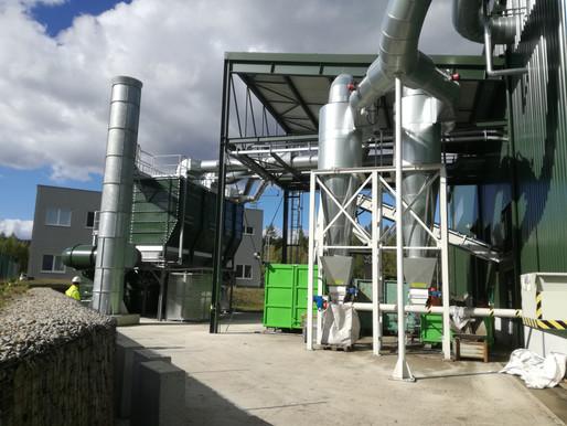 Odprášení provozu centra zpracování odpadu