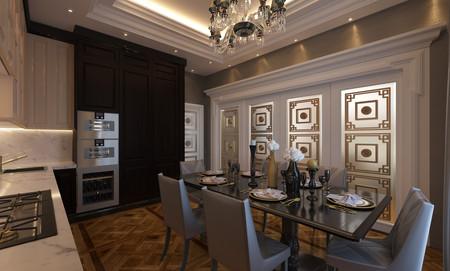 Кухня - вид на гостиную