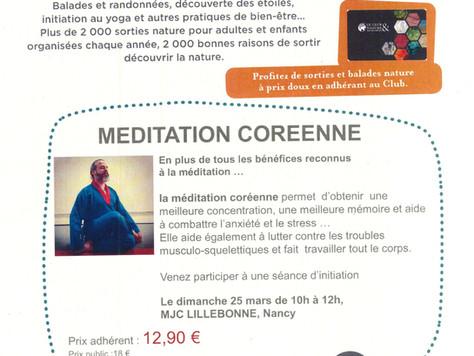 Initiation / Stage méditation coréenne