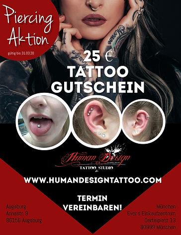 Piercing Aktion München Augsburg