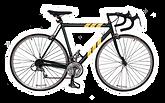 Gelbe Streifen Bike