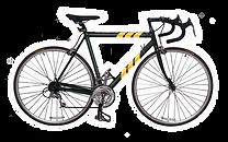Rayas de color amarillo Bicicleta