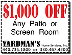 Yardmans Coupon $1000 Off Any Patio or Screen Room