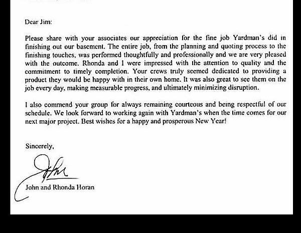 Yardmans Yardmans Basement Finishing Customer Review