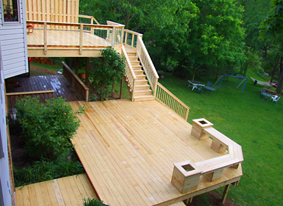 Multi-Level Wood Deck, Northfield Oh