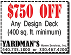 Yardmans Coupon $750 Off Any Deck 400 min sq ft