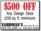 Yardmans Coupon $500 Off Any Deck 250 min sq ft