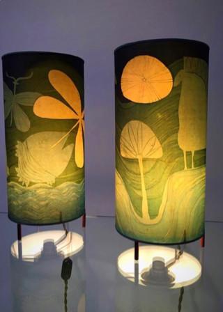 Paire de lampes chevet style danois