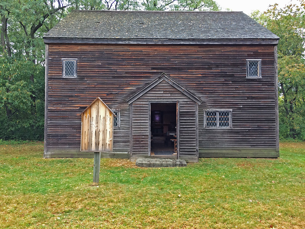 """The Salem Village Meetinghouse as it looks today. This is what the Salem Witch Trials was all about and what they fought for. This is, of course, the detailed replication of the original, right down to the hand-forged iron nails in the doors and siding. No other building of this type exists anywhere in America. It remains as an information center and afocal pointof the Rebecca Nurse Homestead along with her housein Danvers, Massachusetts. Our film company, NightOwl Productions, sold the Meetinghouse to the Rebecca Nurse Homestead for one dollar at the end of our production. We did it in the hopes that Sarah's story and those of her two sisters, Rebecca and Mary, would continue to be accurately told,""""should it take an eternity."""""""
