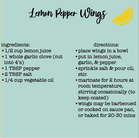 lemom pepper wings