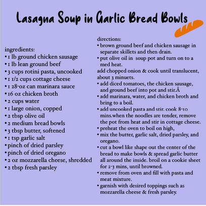 lasagna bread bowl